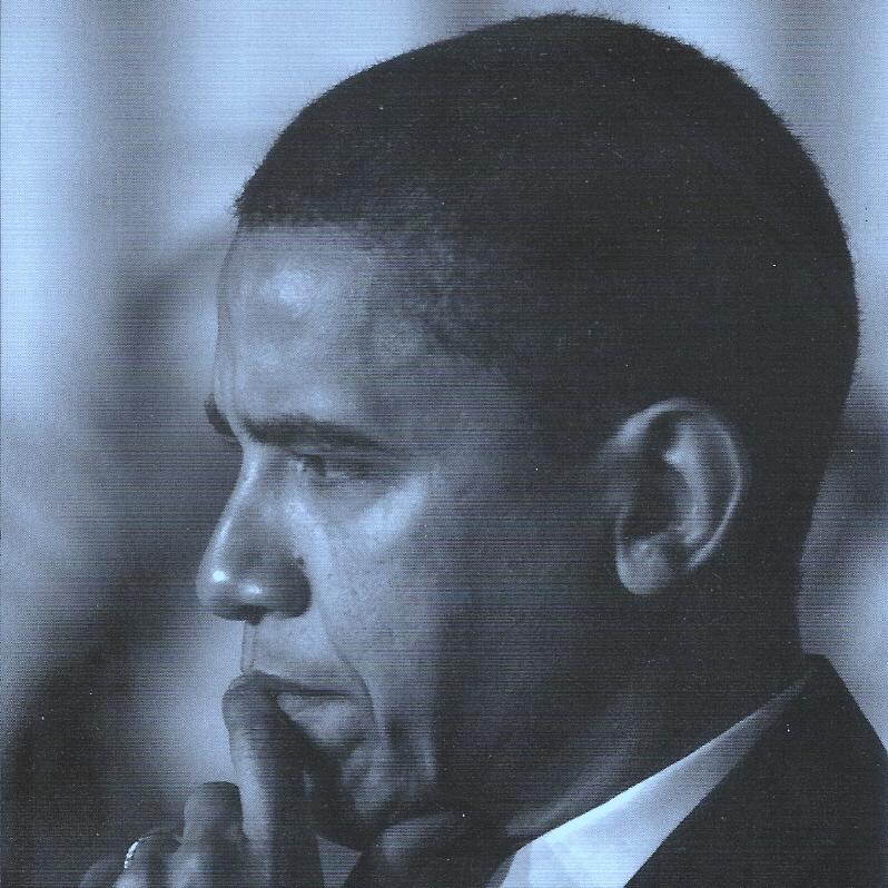 Barack in blue