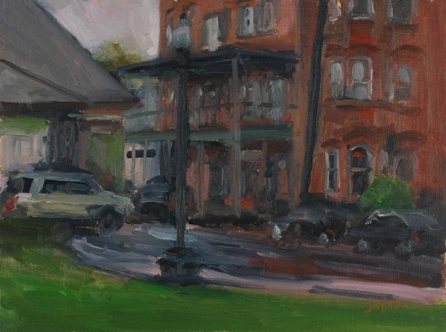 Railroad Avenue in the Rain, Warwick, NY