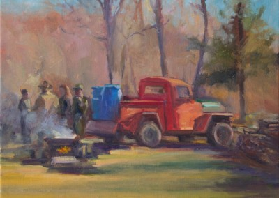 """February Sugaring, 16 x 12"""", oil on canvas"""
