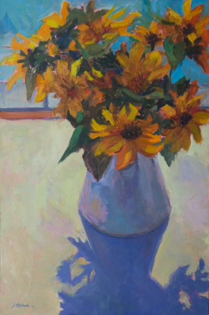 Sunflowers and Shadow