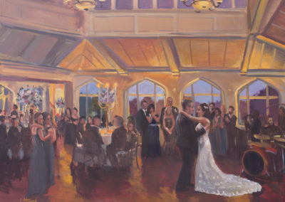Live Event Painting At the Whitby Castle, Rye, NY by Janet Howard-Fatta