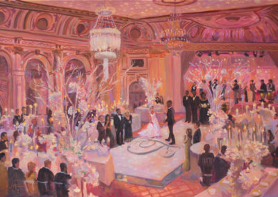 Live Event Painting At the Plaza Hotel, NYC by Janet Howard-Fatta
