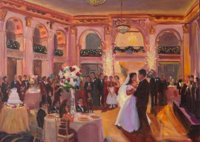Wedding Painting at Ben Franklin Ballroom, Philadelphia, PA