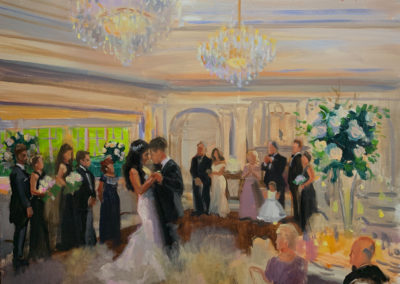 Live Event Painting of First dance with No Touchups