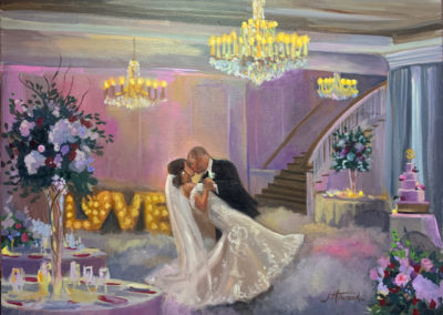 Live Event Painting of Bride and Groom, with no touchups