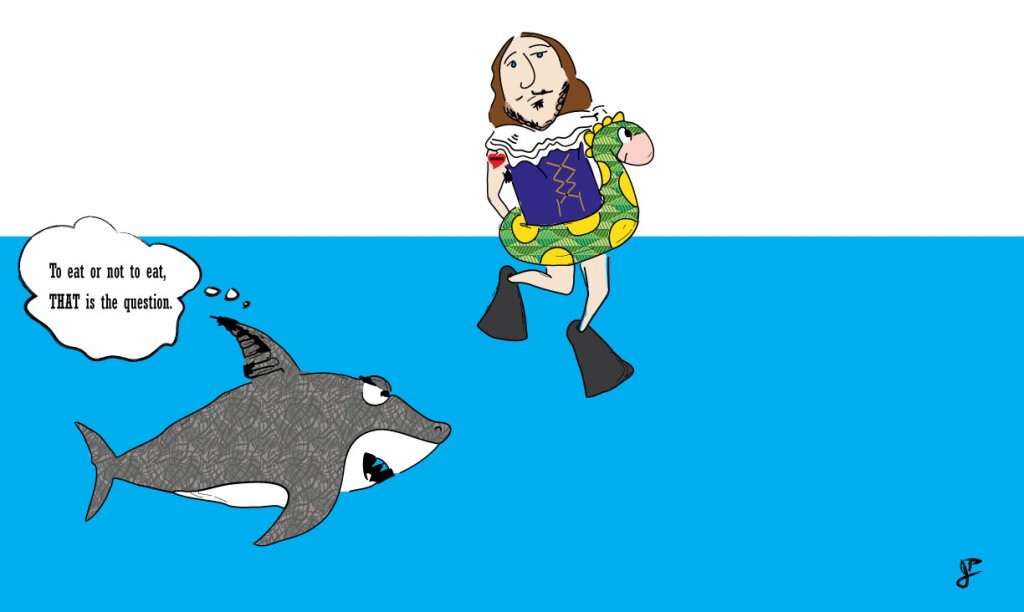 Shakespeare at the beach (during Shark Week)