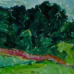 "Photo: Fons Heijnsbroek. ""Burgundy landscape with trees."" Public Domain Mark 1.0"