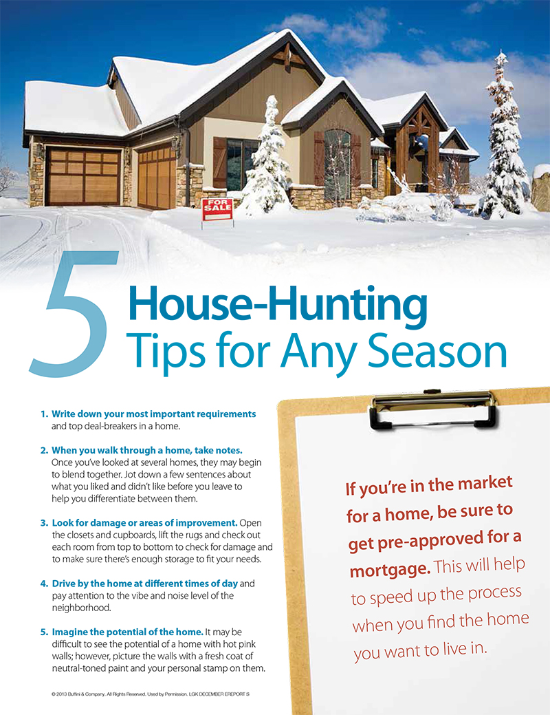 5 house hunting tips