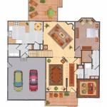 First Floor Plan Room at Olde Salem Village Condos in North Andover