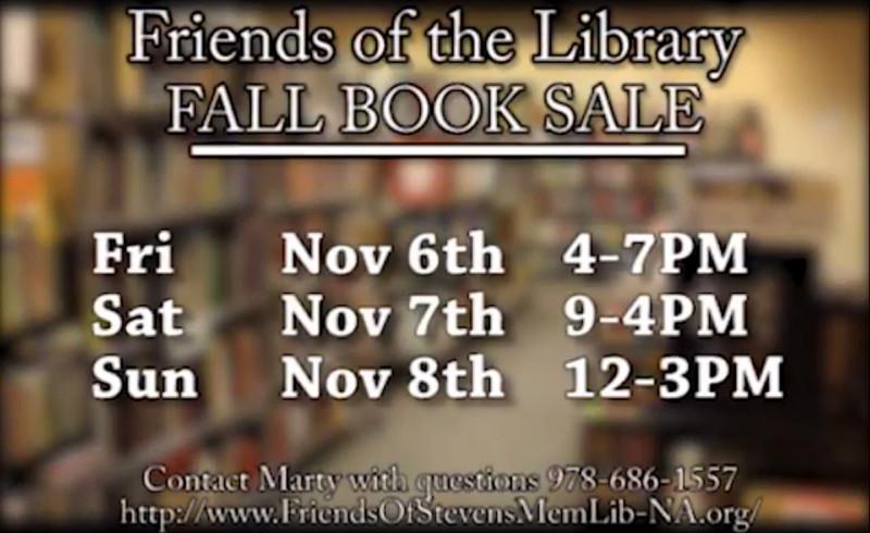 Stevens Memorial Library Book Sale North Andover