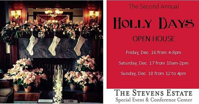 Stevens Estate Holly Days Open House North Andover