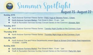 North Andover Events August 2021