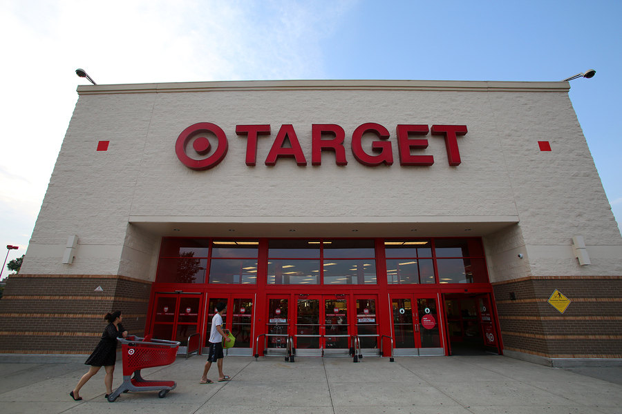 HACKENSACK - JULY 11: Shoppers walk past a Target department sto