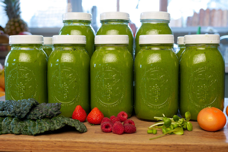 Batch Blending Green Smoothies = Health Benefits & Convenience