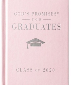 God's Promises for Graduates book - pink cover - can add imprint on cover