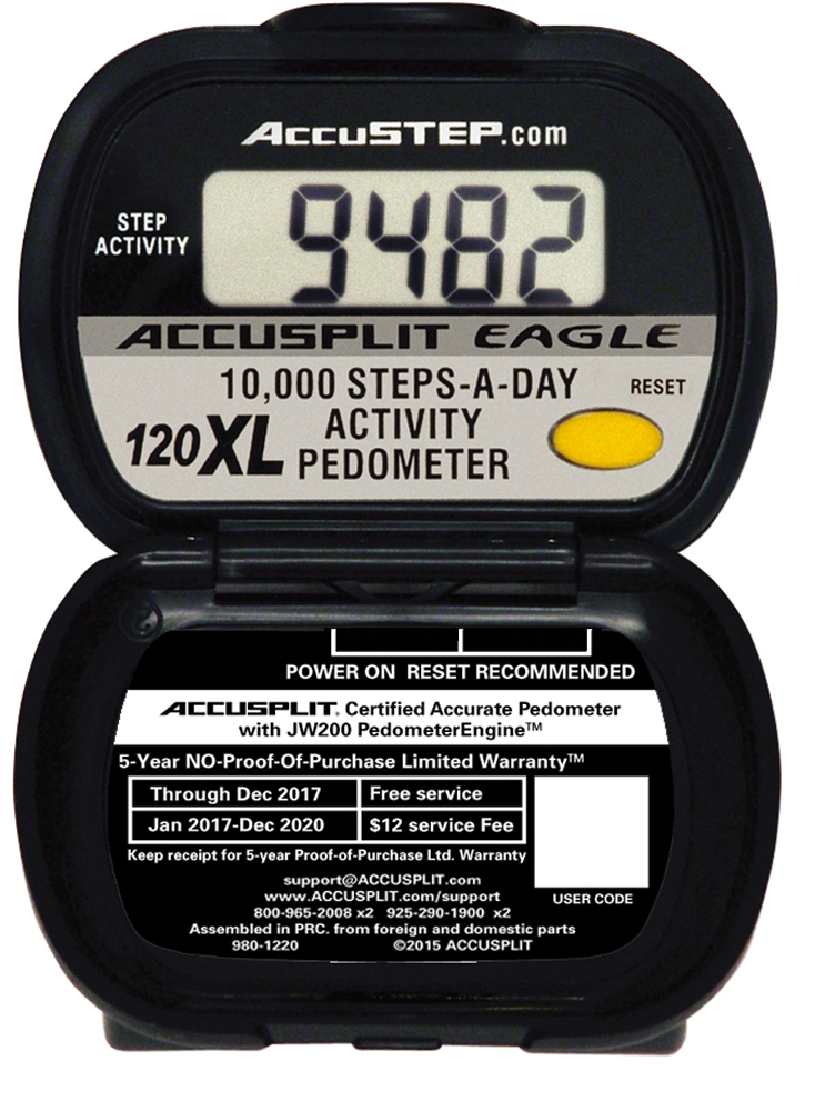 AE120XL Certified Accurate for Research Pedometer to count steps and activity time