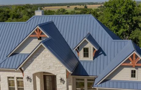 blue metal roofing
