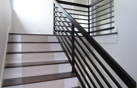 staircase with custom rail
