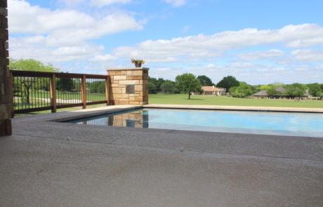 pool through courtyard
