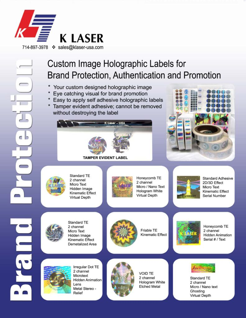 Holographic Label Brochure