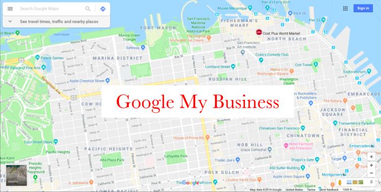 Google My Business Map