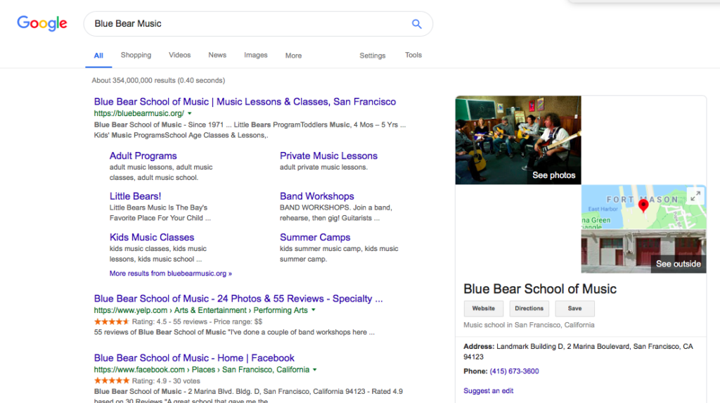 Google Business Search