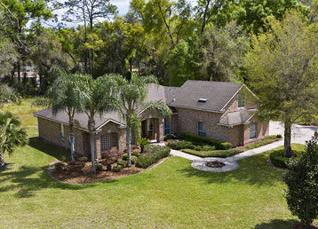 aerial photo of a home in deland florida