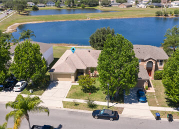 aerial photo of a waterfront home in Orlando fl