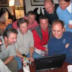 Gathered to check scores and watch traces