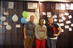 Graduate assistants in Housing and Residence Life who helped work YSU's Tunnel of Oppression. Photo by Alyssa Pawluk/The Jambar.