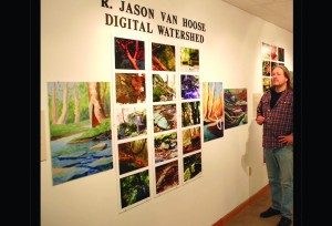 Jason Van Hoose displays his Digital Watershed Solo Exhibition at the Butler Institute of American Art.