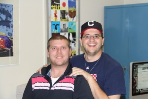 (from left to right) Dustin Livesay and Joe Catullo Jr. pose for a possible sequel to Step Brothers.