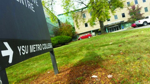 The YSU Metro College at Southwoods will not offer for-credit classes this spring, but will continue to offer non-credit professional development courses. Photo by Dustin Livesay/ The Jambar.