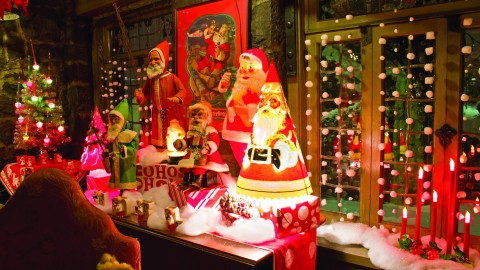 The Christmas setup at the Arms Family Museum. Photo Courtesy of Leanne Lee.