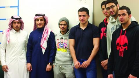 Students of the English Language Institute and Saudi Aramco. Photo by Alyssa Pawluk/ The Jambar.