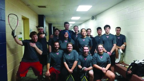 The Youngstown State University racquetball team competed in a tournament in Oxford, Ohio on Jan. 17. Alexis Allison finished as the runner-up in the women's singles competition. Photo courtesy of YSU racquetball.