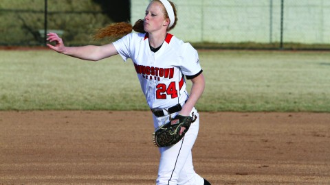 Senior pitcher Kayla Haslett has appeared in three games for the Penguins, starting two. Haslett has an ERA of 2.33 and struck out 10 batters in 15 innings pitched this season. Photo courtesy of YSU Sports Information.