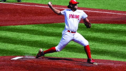 Youngstown State University relief pitcher Josh North threw fourth innings, allowing one hit and one earned run in YSU's 6-3 win against Wright State University on April 26. Photo Courtesy of YSU Sports Information