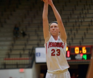 Youngstown State University's Sarah Cash steps up to the free throw line to give the Penguins the lead over Canisius College.