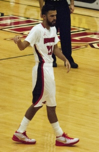 Youngstown State University starting point guard Francisco Santiago finished with 12 points and five rebounds in the Penguins' 65-58 win over Robert Morris University.