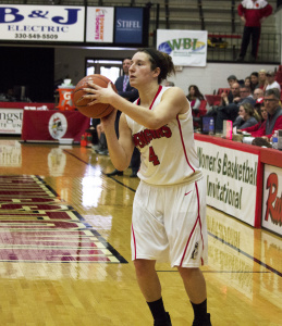 Youngstown State University shooting guard Nikki Arbanas (4) attempts a 3-pointer during the second quarter.