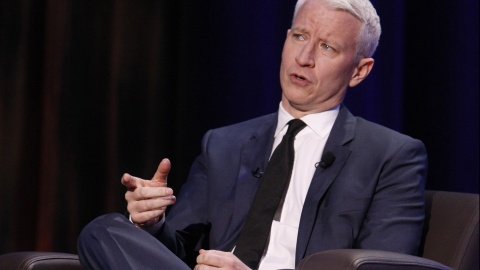 Anderson Cooper speaks during a program moderated by Krys Boyd of KERA as part of the Mavericks Speaker Series at the University of Texas at Arlington, Texas, Feb. 10, 2014. (Richard W. Rodriguez/Fort Worth Star-Telegram/MCT)