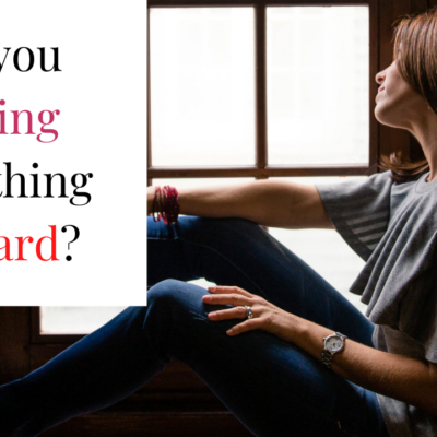 Are you making everything too hard?
