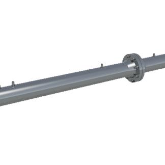 Nozzle differential pressure flow meter