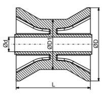 Autoflex Knott 3″ Blue Bow Roller