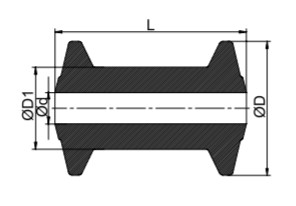 AutoFlex Knott Keel Roller 4″ Black