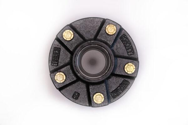 "AutoFlex Knott 4.5"" x 5 Bolt Hub with Bearings – Black"