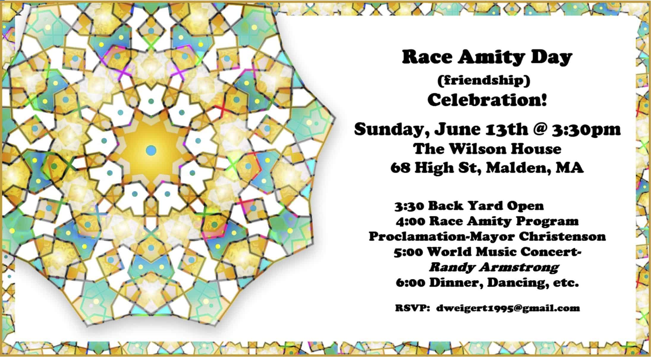 Performance at the 4th Annual Race Amity Day Celebration June 13th!