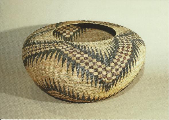 "Miwok-Paiute basket by Lucy Telles, 36"" in diameter, 1930-1933"