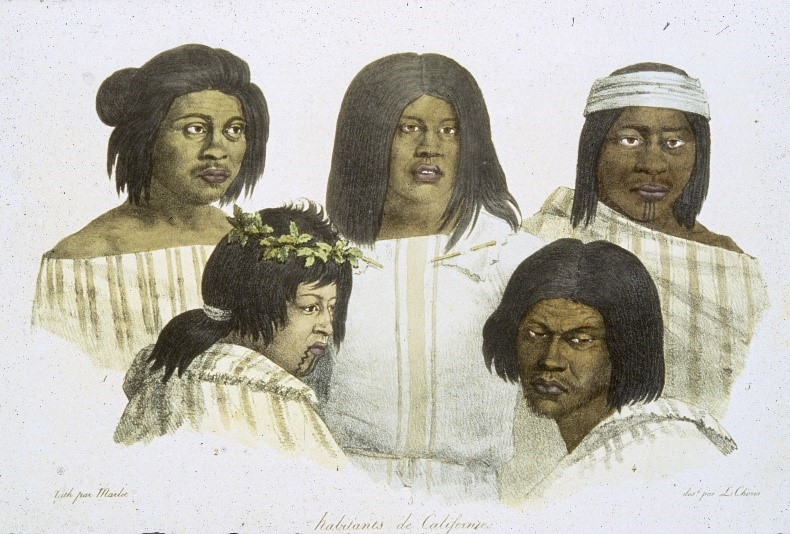 Bay Area Indians by Louis Choris, 1816, Courtesy, The Bancroft Library